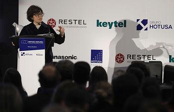 Sáenz de Santamaría durante su intervención en la inauguración del IV Foro de Innovación Turística Hotusa Explora.