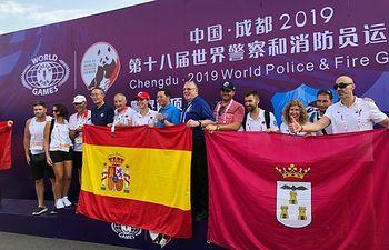 La delegación albaceteña consigue 7 medallas en los juegos mundiales de Policías y Bomberos.