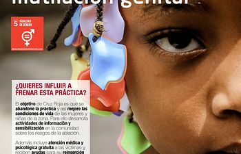 Cartel Mutilación Genital Femenina- Cruz Roja.