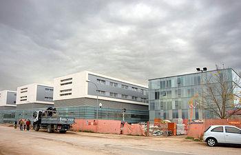 Imagen de las obras de la primera fase de ampliación y sustitución del Hospital Nacional de Parapléjicos de Toledo.