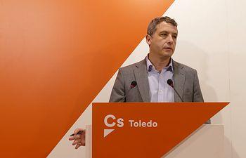 Esteban Paños, portavoz de Ciudadanos (Cs) en el Ayuntamiento de Toledo.