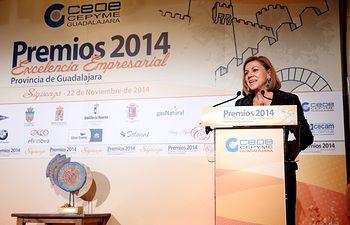 Cospedal asiste a la entrega de los Premios CEOE CEPYME Guadalajara IV.
