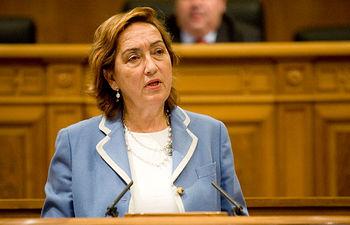 María Luisa Soriano en su comparecencia en las Cortes regionales. Foto: JCCM.