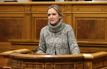 Carmen Casero interviene en Pleno Cortes 1. Foto: JCCM.