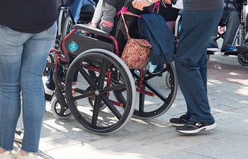 Discapacidad, silla de ruedas.