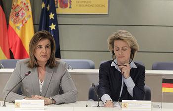 Fátima Báñez y Ursula Von der Leyen. Foto EFE