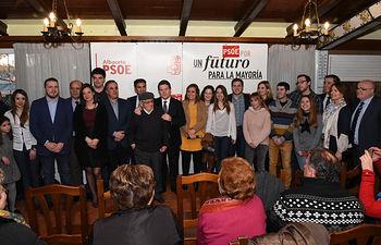 Encuentro de Emiliano García-Page con jóvenes militantes en Tobarra (Albacete).