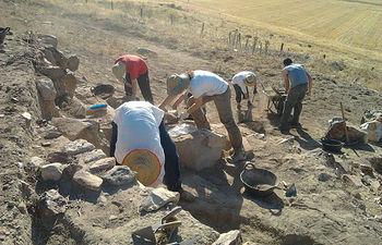 Imagen de archivo de la excavación arqueológica en el sector ibérico de Alarcos.