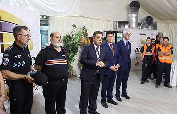 Manuel Serrano visita el retén de la Feria de Albacete