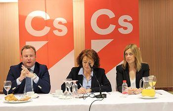 Desayuno Cs con representantes empresariales de Albacete.