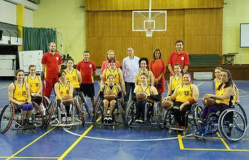 Leis visita a la Seleccion Femenina de Baloncesto en silla de ruedas 2. Foto: JCCM.