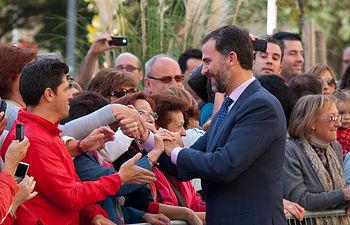 S.A.R. El Príncipe de Asturias, D. Felipe, durante la inauguración del Centro de Grandes Discapacidades 'Infanta Leonor' de Albacete.
