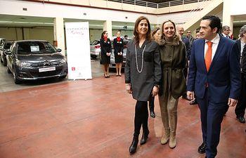 Carmen Casero en la Feria del Automóvil Fecirauto en Ciudad Real. Foto: JCCM.