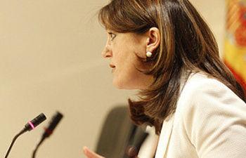 Soraya Rodríguez durante la rueda de prensa