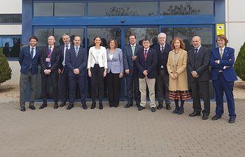 La ministra Reyes Maroto visita la planta de Vestas en Ciudad Real.