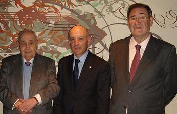 Emilio Frías Ponce, Vicente Roúco y José Rodríguez Jiménez, los tres presidentes que ha tenido del Tribunal Superior de Justicia de Castilla La Mancha.