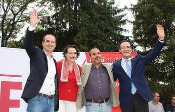 PSOE Guadalajara mitin Magdalena Valerio y José Bono.