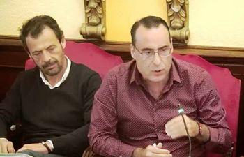Antonio de Miguel y Javier Toquero, concejales de Vox en el Ayuntamiento de Guadalajara.