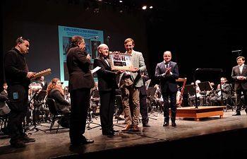 La Banda Sinfónica Municipal de Albacete en el Teatro López de Ayala, de Badajoz.