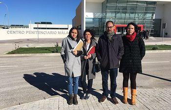one Belarra y Maribel Mora, portavoces adjuntas de Unidos Podemos en Congreso y Senado, junto al diputado Alberto García Montero y a la diputada Eva García Sempere