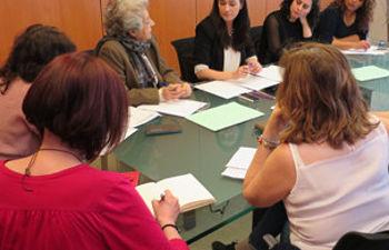 Carmen Montón, en la reunión con colectivosde mujeres
