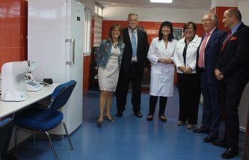 Carmen Olmedo visita el Servicio de Prevencion Riesgos Laborales.