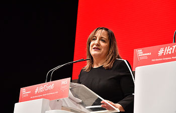 Iratxe García, ha sido elegida hoy por aclamación presidenta de los socialistas en la Eurocámara.