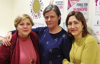 Yolanda Valcárcel Hernández, María Teresa Navarro Pérez y María Ángeles Grande Fernández.