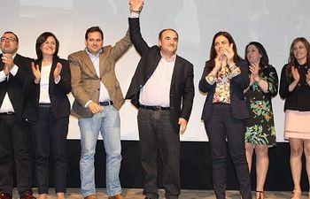 Núñez y la candidatura del PP en Villarrobledo.