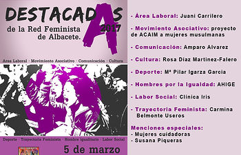 Cartel Destacadas de la Red Feminista en 2017.
