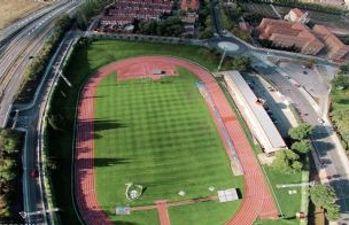 Vista aérea de las pistas de atletismo de la Fuente de la Niña
