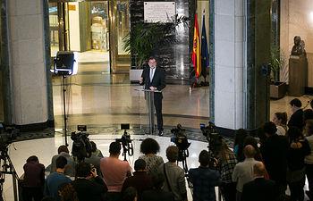 Mariano Rajoy se reúne con Albert Rivera en el Congreso
