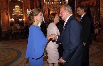 Cospedal asiste a la sanción de la Ley de Abdicación 1 (Autor Casa Real). Foto: JCCM.