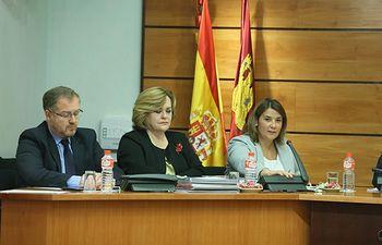 La consejera de Fomento, Agustina García Élez, comparece en la Comisión de Economía y Presupuestos de las Cortes de Castilla-La Mancha