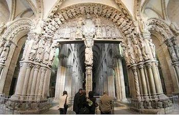 Pórtico de la Gloria de la Catedral de Santiago de Compostela. Foto: EFE.
