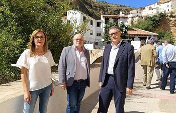 Visita del presidente de la Confederación Hidrográfica del Segura (CHS), Mario Urrea, a la Sierra del Segura.
