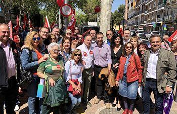 El PSOE de Albacete participa en la manifestación del 1 de mayo