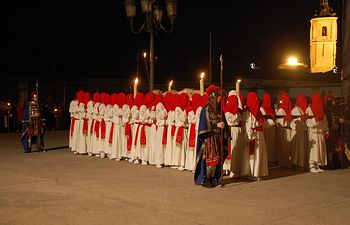 Procesión del Santo Entierro, Viernes Santo. Yunquera de Henares declarada de interés turístico Provincial. Foto: Onda Yunquera.