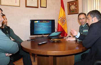El Subdelegado del Gobierno visita la Comandancia de la Guardia Civil de Albacete
