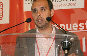 Pablo Bellido, en su intervención tras ser proclamado secretario general del PSOE de GUadalajara.