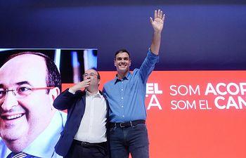 Miguel Iceta y Pedro Sánchez