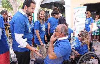 Dívar en el Día de la Discapacidad en Albacete. Foto: JCCM.