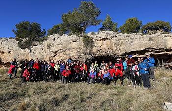Ruta de senderismo organizada por la Diputación Provincial en Alpera. Foto: Luis Vizcaino/foto@lamanchapress.com