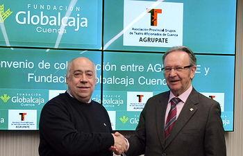 Firmado el convenio de la Fundación Globalcaja Cuenca con Agrupate