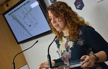 Sara Martínez, portavoz municipal.