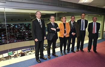 Soriano visita sede Red Eléctrica Española II. Foto: JCCM.