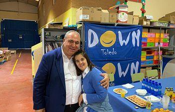 Tirado en la visita que ha realizado a la Escuela Taller de la Asociación 'Down Toledo'.