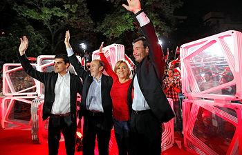 Mitin de apertura de campaña en Villaverde (Madrid)