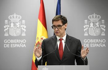 El ministro de Sanidad, Salvador Illa, ofrece una rueda de prensa para informar sobre la situación del Coronavirus en España tras confirmarse 3 muertes y 245 casos, en el Ministerio de Sanidad, en Madrid (España) a 05 de marzo de 2020. Foto: Europa Press 2020