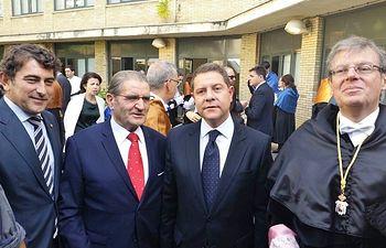 Foto Miguel Ángel Escalante, Andrés Gómez Mora, Emiliano García-Page y Miguel Ángel Collado